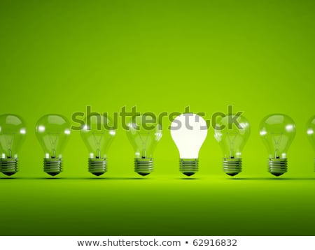 yeşil · ampul · 3d · illustration · teknoloji · enerji - stok fotoğraf © MikhailMishchenko