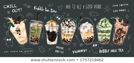 Stock photo: Hands Coffee Milk Tea Drinks Illustration