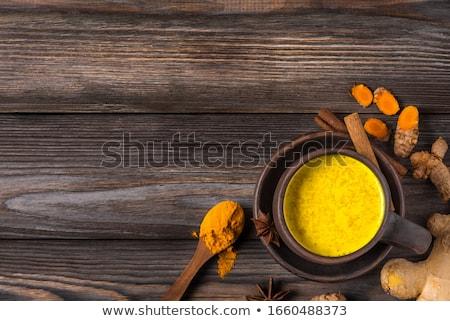 Golden milk / tumeric latte Stock photo © BarbaraNeveu