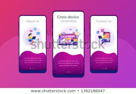 App interfejs szablon specjalista użytkownik komórkowych Zdjęcia stock © RAStudio