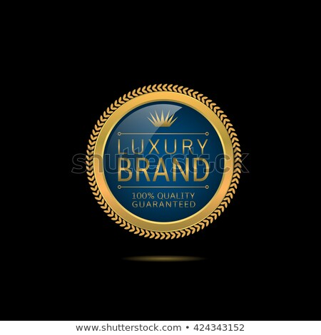 Luxury Brand Golden Label that Approves Quality Stock photo © robuart