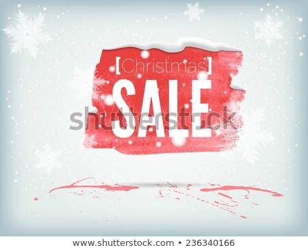 Stock fotó: Klassz · karácsony · vásár · szalag · hópelyhek · dekoráció