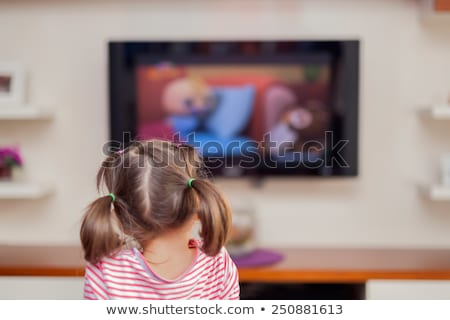 child watching TV at home Stock photo © Lopolo