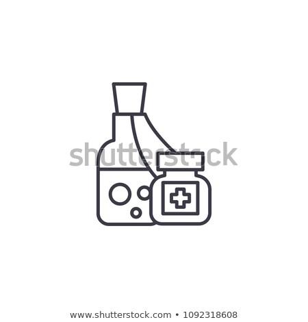 natuurlijke · fles · ander · remedie · medische · ontwerp - stockfoto © imaagio