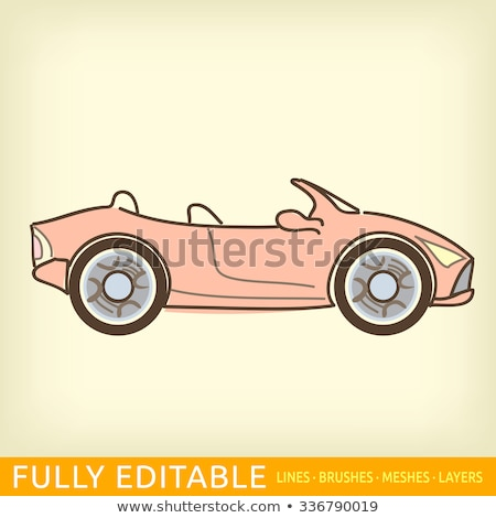 ストックフォト: 車 · 手描き · いたずら書き · アイコン