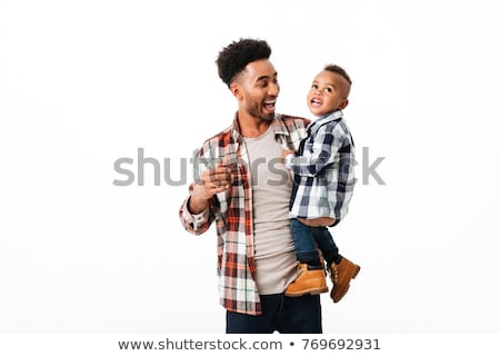 The Baby boy portrait on white background Stock photo © Lopolo