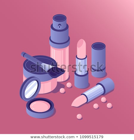 cosmetic color isometric concept icons stock photo © netkov1