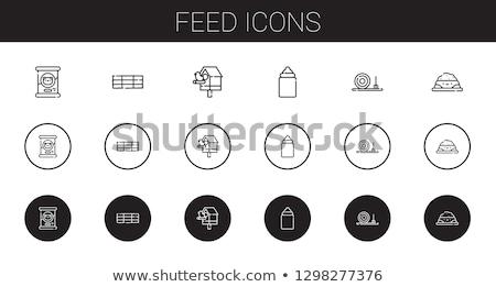 Siano ikona kolor projektu gospodarstwa Zdjęcia stock © angelp