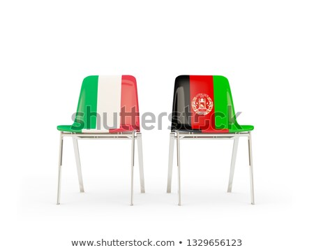 Two chairs with flags of Italy and afghanistan Stock photo © MikhailMishchenko