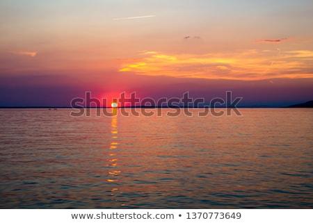 Stock photo: Beautiful Sunset Over Adriatic Sea Near Starigrad In Croatia