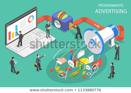 Isométrica vetor publicidade campanha digital Foto stock © TarikVision