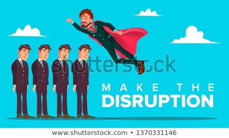Make Disruption Creative Thinking Vector Banner Concept ストックフォト © pikepicture