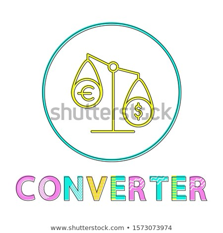 Currency Converter Tipped Scales Depiction Icon Stock photo © robuart