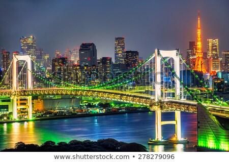 view of rainbow bridge in tokyo, japan Stock photo © dolgachov