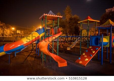 Recreio cena noturna ilustração árvore projeto fundo Foto stock © bluering