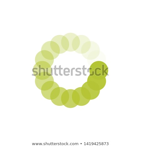 Green Loading circle icon. Buffer loader or preloader. Donload or Upload. Vector illustration isolat Stock photo © kyryloff