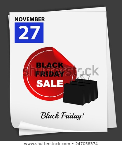 A calender showing the 27th of November Stock photo © colematt