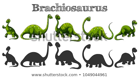 Brachiosaurus in five different actions Stock photo © colematt