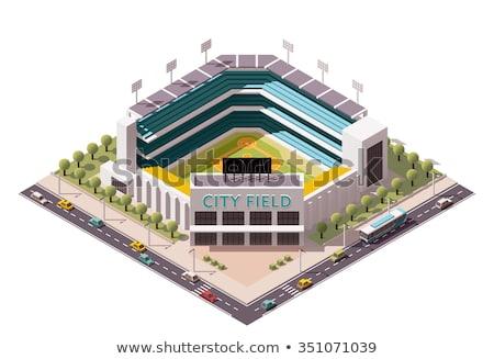 vettore · isometrica · baseball · icona · stadio - foto d'archivio © artisticco