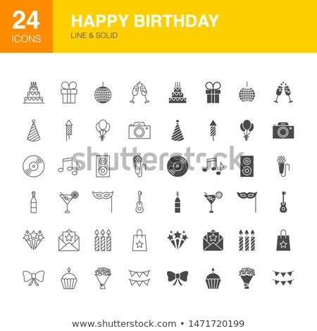 buli · szilárd · webes · ikonok · vektor · szett · születésnap - stock fotó © anna_leni