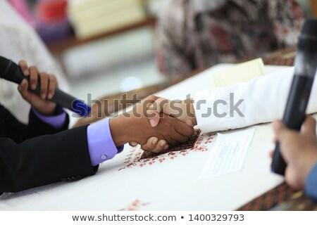 teamwerk · procede · afbeelding · business · team · groet · handdruk - stockfoto © Freedomz