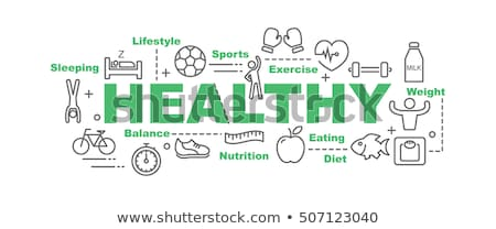Healthy Food Minimal Infographic Banner Vector Stock photo © pikepicture