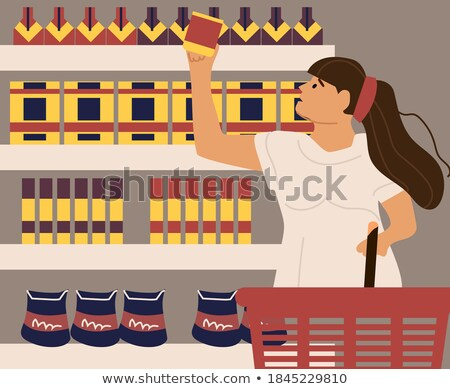 Woman Choosing Household Chemicals in Store Vector Stock photo © robuart