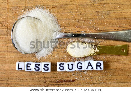 diabetes word near spoon of sugar stock photo © andreypopov