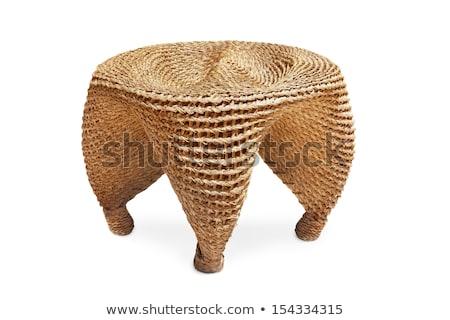 Rattan texture background, garden furniture design detail Stock photo © Anneleven