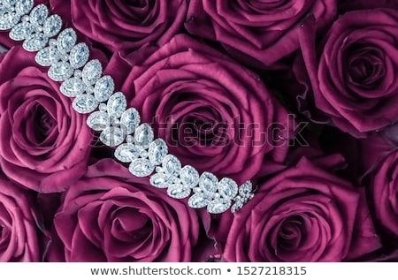 Luksusowe diament biżuteria bransoletka różowy róż Zdjęcia stock © Anneleven