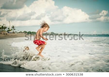 Portret vrolijk kinderen genieten vakantie Stockfoto © konradbak