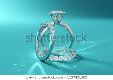 ダイヤモンド 青 輝かしい 石 ストックフォト © robuart