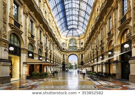 Vidro cúpula milan Itália construção luz Foto stock © ShustrikS