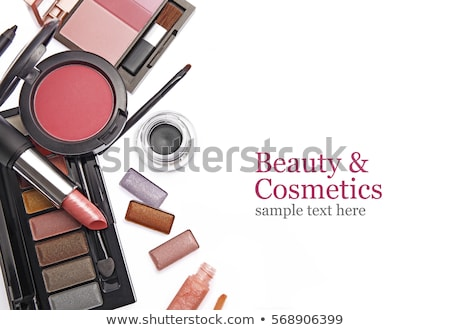 crushed eyeshadows and lipstick isolated on white background stock photo © anneleven