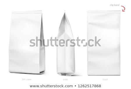 Ayarlamak çanta yalıtılmış beyaz kroki stil Stok fotoğraf © Arkadivna