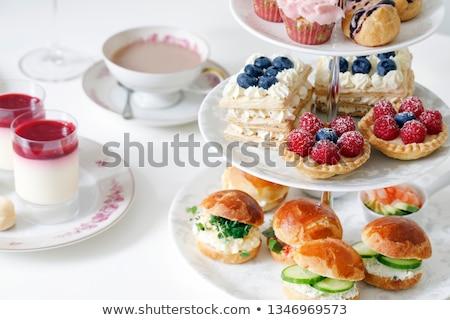 Chá da tarde biscoitos tabela refeição raio conceito Foto stock © grafvision