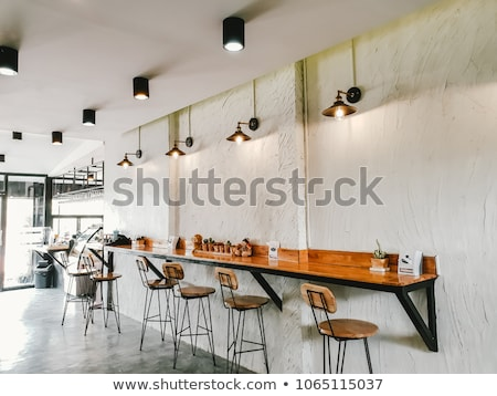 Coffeehouse Interior Design with Chairs and Tables Stock photo © robuart