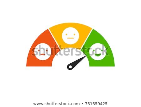 Satisfação do cliente texto caderno caneca de café gráfico de barras Foto stock © Mazirama