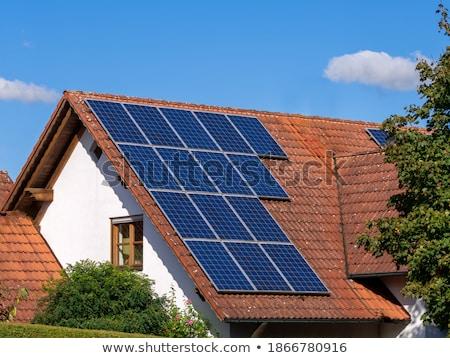 Algemeen moderne huis fotovoltaïsche zonne dak Stockfoto © manfredxy
