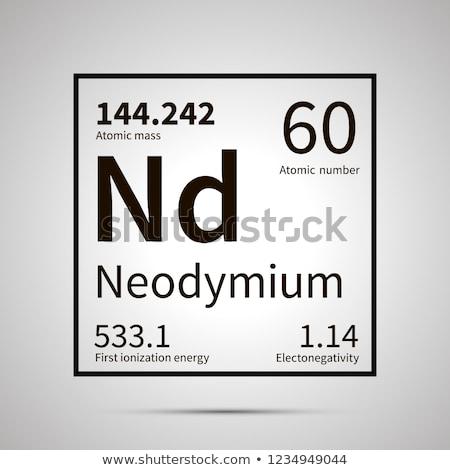 Chimica elemento primo energia atomico massa Foto d'archivio © evgeny89