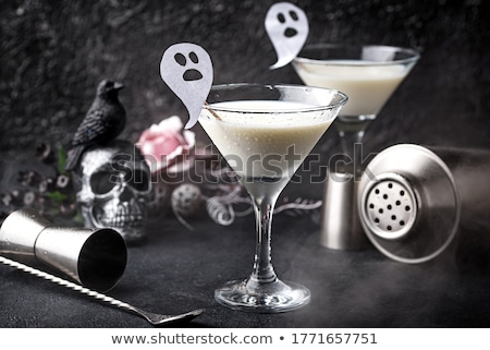 Halloween drink Liquid ghost. Coconut cocktail Stock photo © furmanphoto
