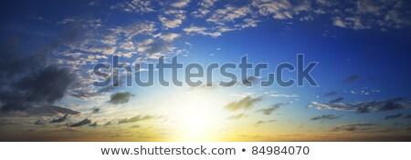 表示 壮大な 空 日没 時間 パノラマ ストックフォト © moses