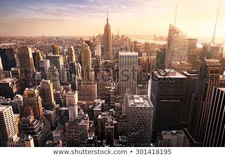 Manhattan ville New York États-Unis Amérique ciel Photo stock © arocas