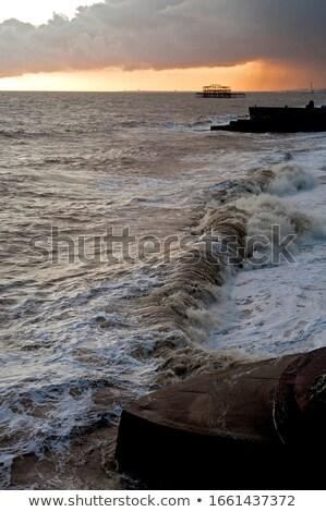 サージ ビーチ 風景 海 イングランド ストックフォト © prill