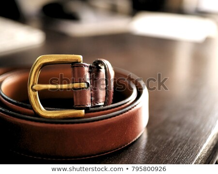 Brown men's belt Stock photo © homydesign