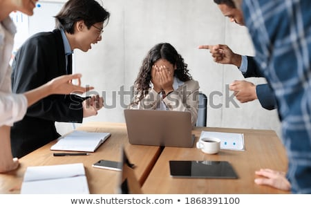 An unfriendly businesswoman Stock photo © photography33