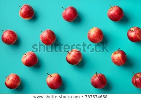 gyümölcs · almák · minta · kék · friss · organikus - stock fotó © happydancing