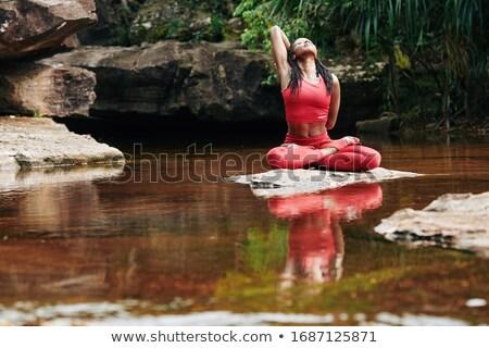 donna · pregando · giovani · asian · bellezza · abito - foto d'archivio © smithore