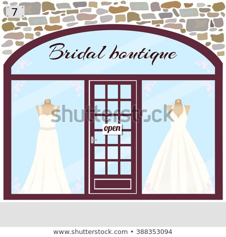 Precious wedding dress, vector illustration  Stock photo © carodi