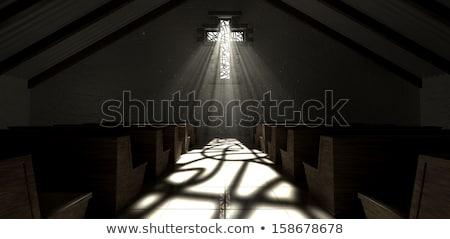 Stockfoto: Muur · katholiek · kerk · oude · Rood · baksteen